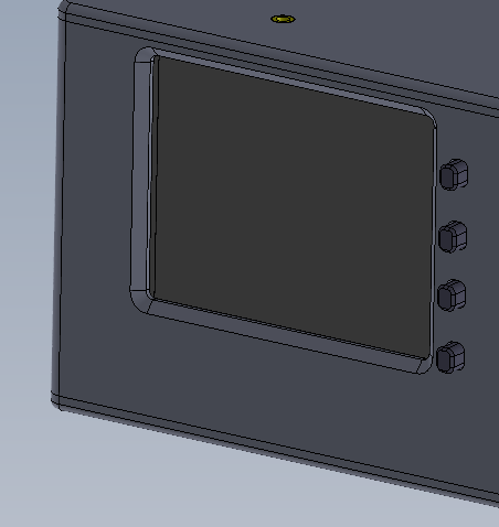 Receiver Box Screen and Buttons
